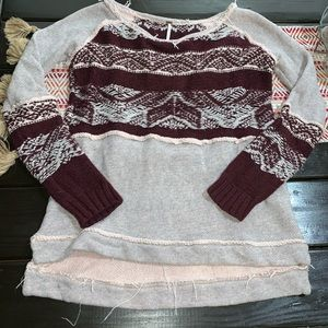 Free people distressed sweater medium